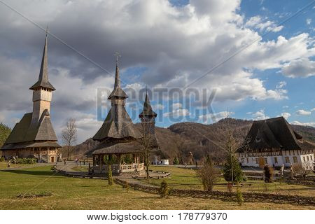 Barsana Monastery In Maramures County In Romania.