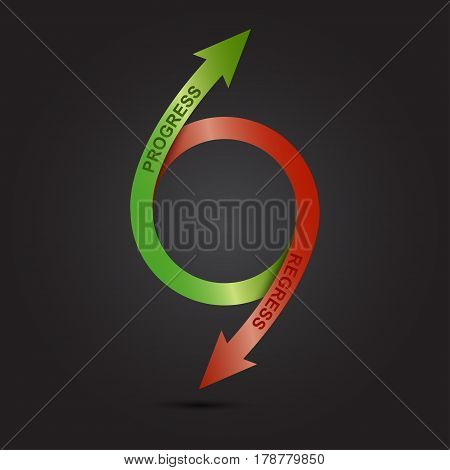 Economic downturn and the rise. business fall diagram. Vector illustration.