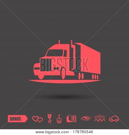 Pictograph of truck. Vector concept illustration for design. Eps 10