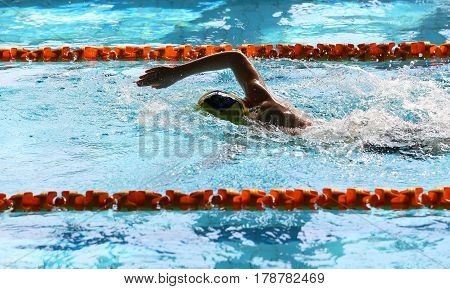 Swimming is a sport. There are many styles of swimming. The most popular are breaststroke, crawl, backstroke and, because of the simplicity.