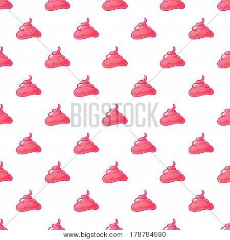 Funny pink cream background. vector seamless pattern