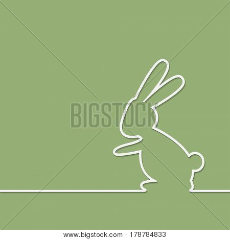 Easter Rabbit on green background. Illustration