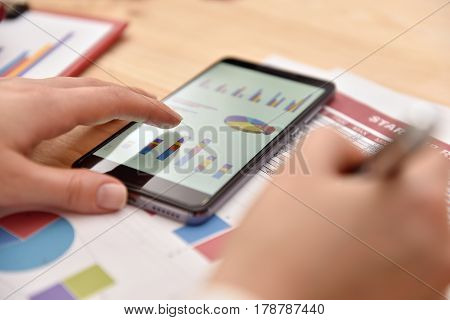 Smart Phone With Financial Data