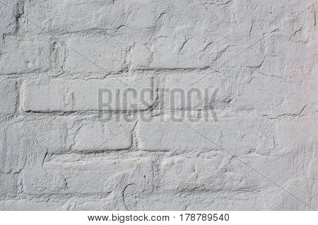 High resolution texture of part of white brick wall