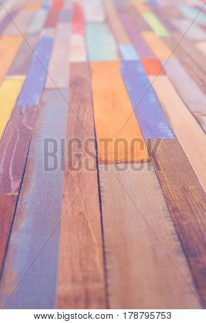 Colored vertical rectangular tiled background with outlook looking yellow red white black pattern. Multicolor tiles