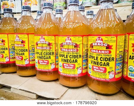 Kuala Lumpur, Malaysia, February 15: Bragg Organic Apple Cider Vinegar Is Now The Market Leader In T