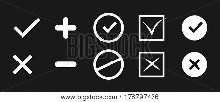 True and false signs. Correct and incorrect icons
