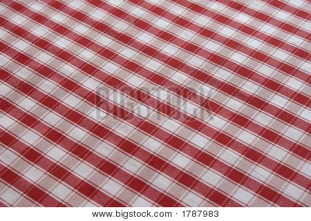 Detailed Red Picnic Cloth
