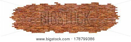 Part Of A Brick Wall, Isolated On White Background