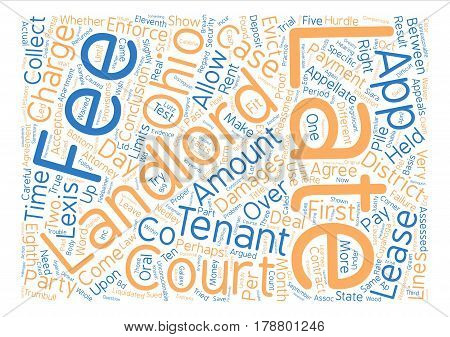 Landlord s Corner Apartment lease agreement Late fees in Ohio text background word cloud concept