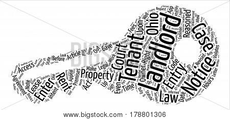 Landlord s Corner Unauthorized Entry and ORC and text background word cloud concept