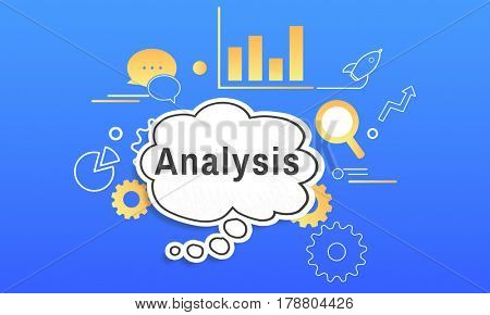 Business Strategy Management Analysis Illustration