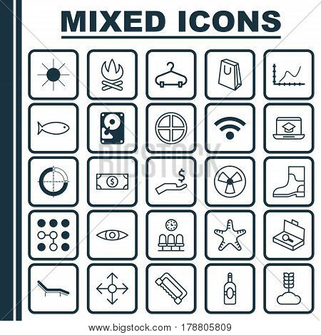Set Of 25 Universal Editable Icons. Can Be Used For Web, Mobile And App Design. Includes Elements Such As Ventilator, Hooch, Carpentry And More.