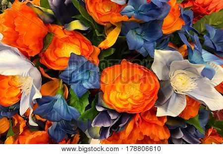 Abstract of beautiful bouquet flower for background