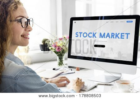 Stock Market Trade Finance Exchange Forex Concept poster