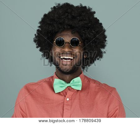 African Descent Man Sunglasses Happy