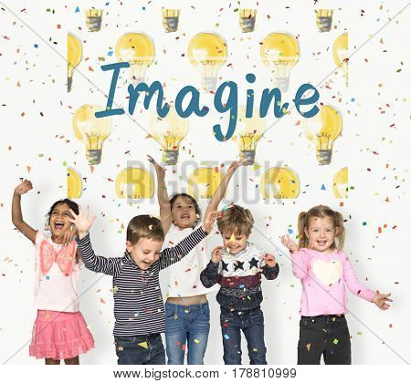 Imagine children classmates friends happiness