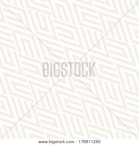 Repeating Geometric Stripes Tiling. Ornamental Stylish Texture. Vector Seamless Monochrome Subtle Pattern