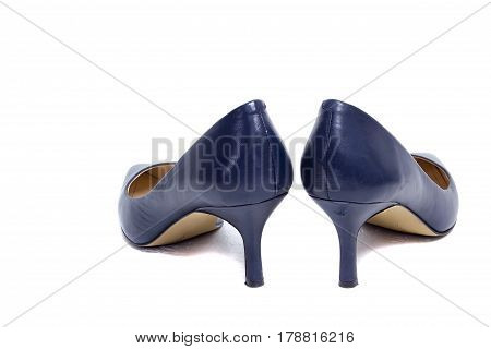 Female shoes in a pair on a white background