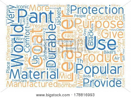 Leather Pants and Leather Coats text background word cloud concept