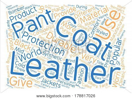 Leather Pants and Leather Coats Word Cloud Concept Text Background