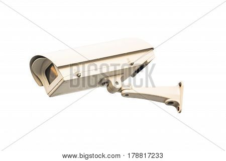 closed circuit camera on the white background