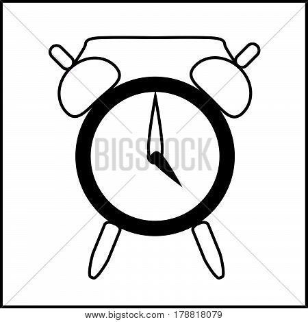 icon clock show time four o'clock isolated vector