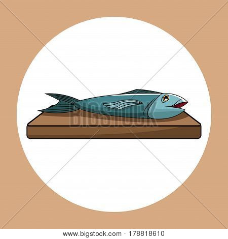 fish healthy fresh image vector illustration eps 10