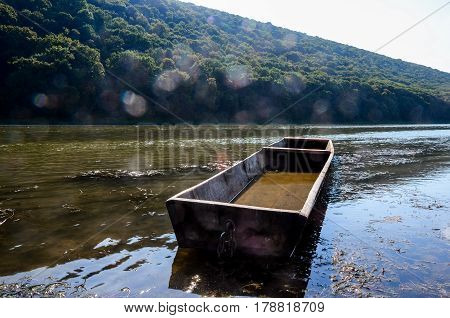 An Old Boat, The Shore Of The Autumn River