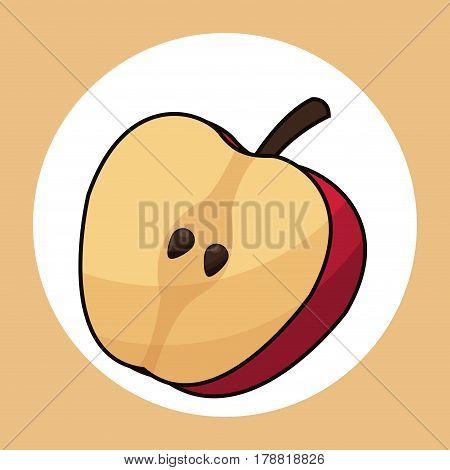 slice apple healthy fresh image vector illustration eps 10
