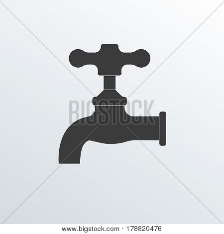 Faucet icon. Vector illustration of tap or faucet.