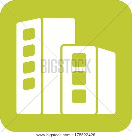 Location, towers, business icon vector image. Can also be used for business administration. Suitable for mobile apps, web apps and print media.