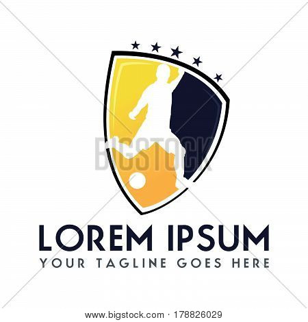Soccer Football club logo design. Sport team identity football logo.