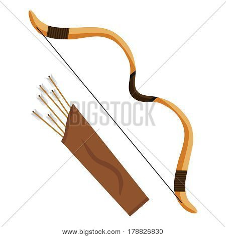 Bow with arrows. Flat design vector illustration vector.
