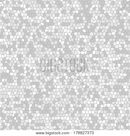 Abstract White Mosaic Background Texture. Illustration