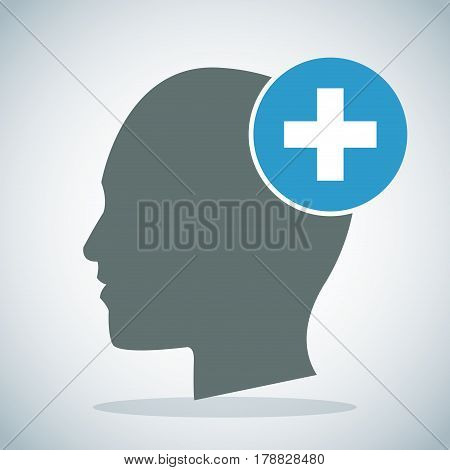 human head brain medical cross concept vector illustration eps 10