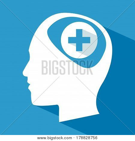 human head brain care cross vector illustration eps 10