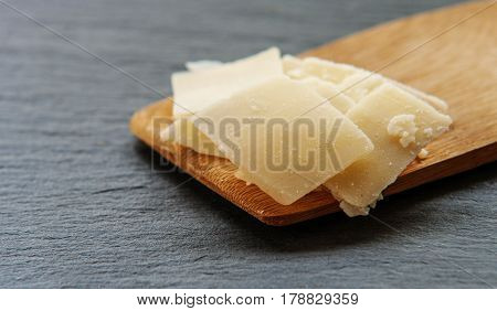 Gourmet Organic Parmesan Cheese on a Background