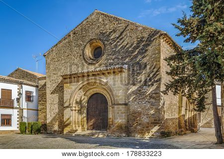 Church of Santa Cruz is one of the few churches with Romanesque style Baeza Spain