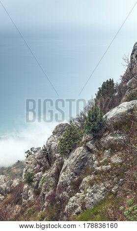 Crimea Peninsula, Black Sea. Coastal Rocks