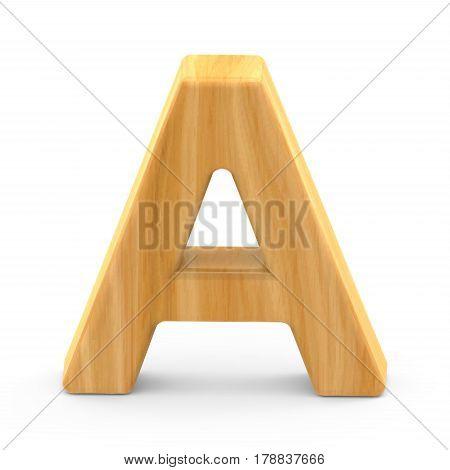 Wooden Grain Letter A