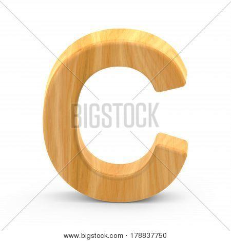 Wooden Grain Letter C