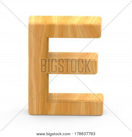 Wooden Grain Letter E