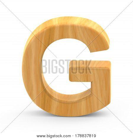 Wooden Grain Letter G