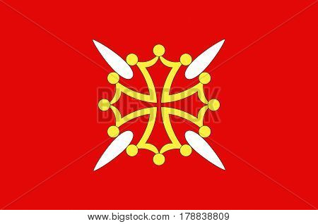 Flag of Haute-Garonne is a department in the southwest of France.