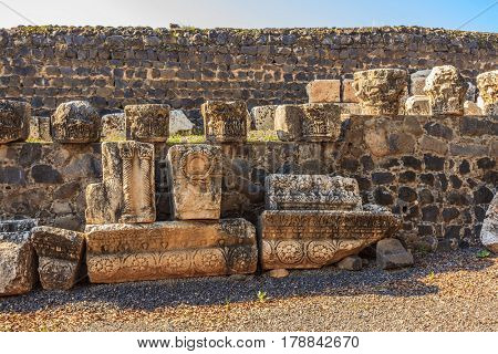 Ruins of the most ancient White synagogue in which Jesus Christ preached.