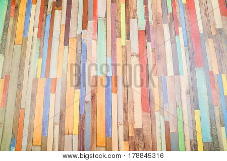 Colorful horizontal rectangular tiled background yellow red white black pattern. Multicolor tiles