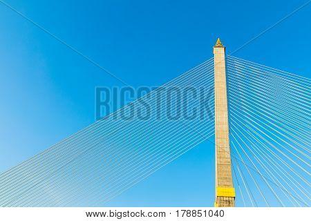 Rama VIII Bridge at Chao Phaya River Bangkok Thailand
