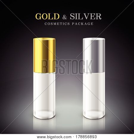 Golden And Silver Cosmetic Package