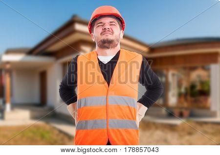 Male Engineer Getting Back Injury